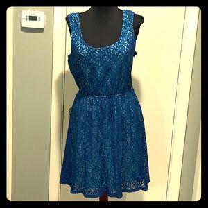 Mossimo blue lace dress.
